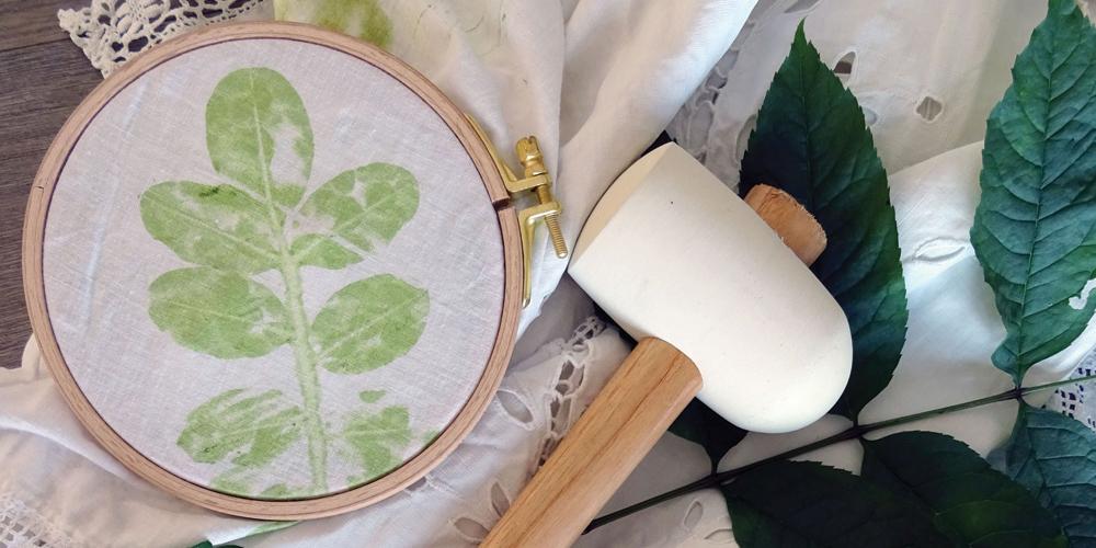 Atelier empreintes végétales